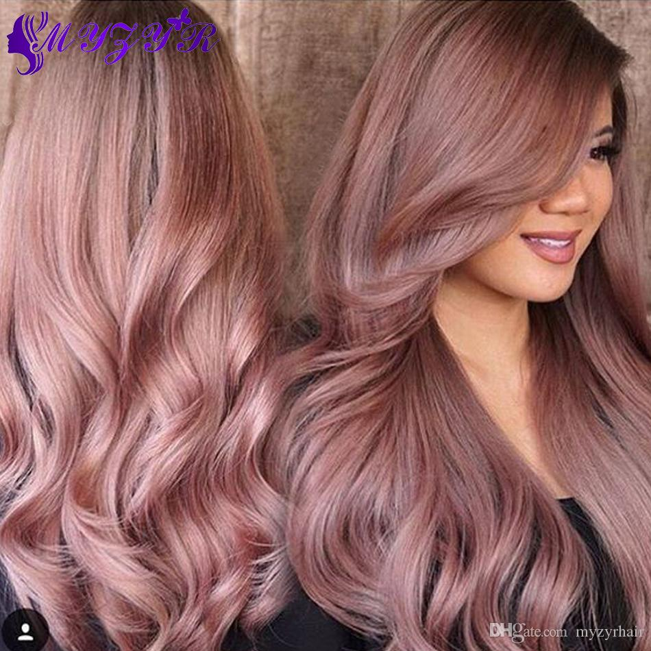 2018 cheap rose gold ombre hair extensions brazilian virgin hair see larger image pmusecretfo Choice Image