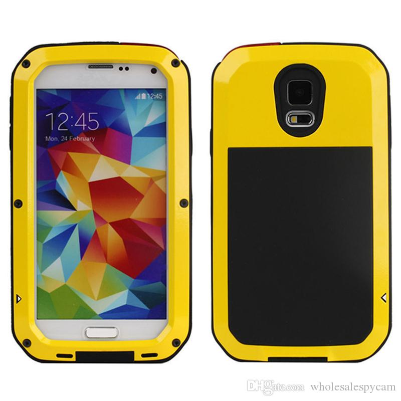 For Samsung Galaxy S3 S4 S5 S6 S7 Edge Note 4 5 Shockproof Waterproof Power Aluminum Gorilla Glass Protect Phone Cover