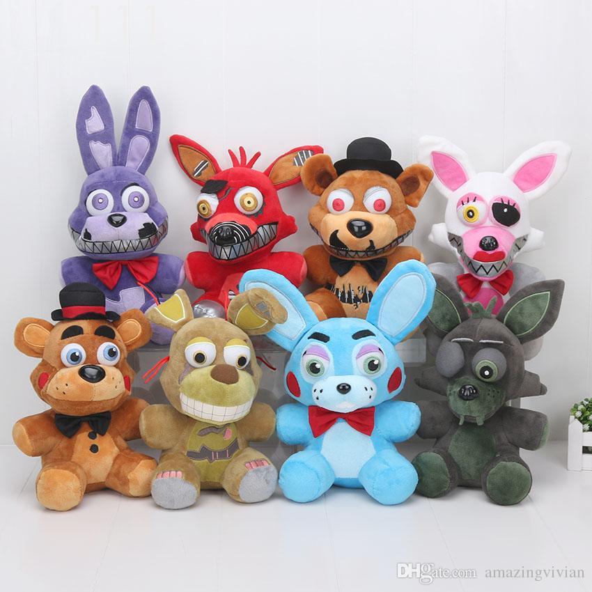 25cm Fnaf Plush Toy Five Nights At Freddys Plush Golden Freddy Fazbear Mangle Bonnie Foxy Stuffed Doll Toys Sister Location Toys & Hobbies Movies & Tv