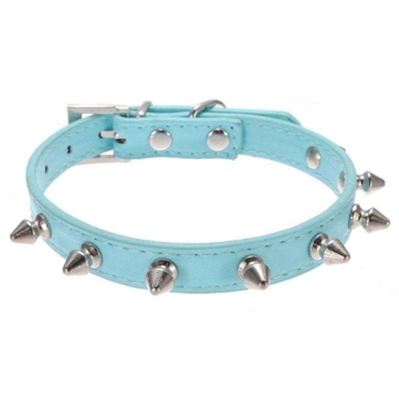 Yüksek Kaliteli Köpek Tasma Çivili PU Deri Yaka Köpek için, Çivili Küçük Köpek Yaka Köpek Pet Aksesuarları Yaka Çok Renkler
