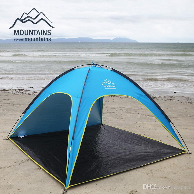 Wholesale 4 People Beach Tent Ultralight Beach C&ing Tent Sun Shelter Large Outdoor Folding Awning Tenda Wind Resistant Tente Anti Uv C&ing Tents For ... & Wholesale 4 People Beach Tent Ultralight Beach Camping Tent Sun ...