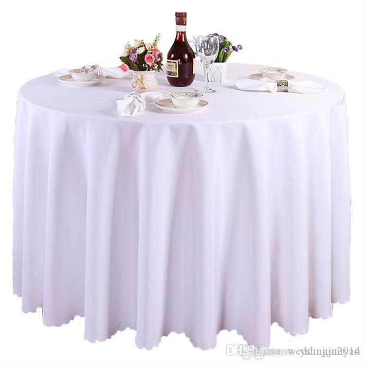 White Round Polyester Wedding Tablecloths Table Covers Table Cloth  Decorations Banquet Home Outdoor High Quality Online With $26.23/Piece On  Weddingjunyanu0027s ...