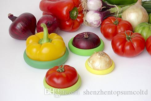 4 stks / set Desorted Food Embracers Food Cuddlers en Eten Cuddlers helpt uw voedsel en fruit veilig keukenaccessoires te houden
