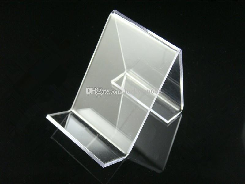 Hot sale Multifunction Clear Acrylic Mobile cell Phone U Disk Jewelry Display Stand Holder Digital Products Purse Wallet Rack