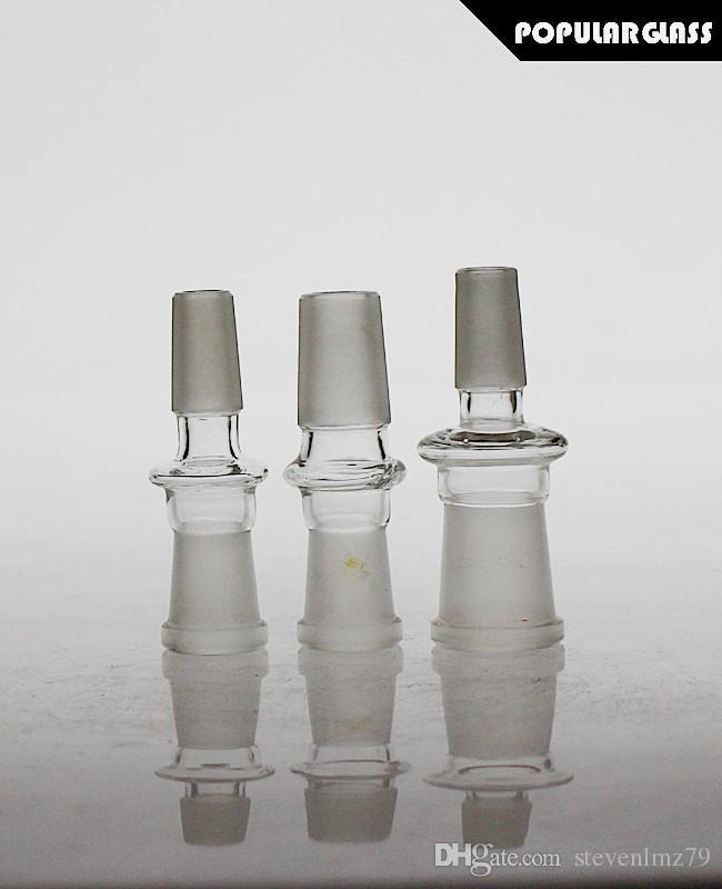 SAML Verre adaptateur bong adpters plates-formes pétrolières adaptateurs de pipe en verre adaptateurs mâle / femelle 14.4mm joint / 18.8mm PG5074