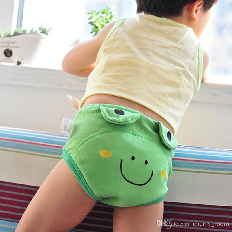 Cartoon New Infant Ragazzi Ragazze Biancheria Intima Lavabile Neonati Slip Slip Bambino Cotone Impermeabile Riutilizzabile Pannolino Pannolino Pantaloni Allenamento A6335