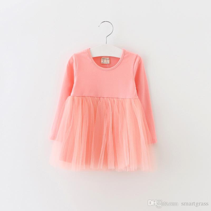 Le ragazze di vestito lunghe dal manicotto Online Shopping autunno 2020 bambino vestiti della ragazza vestito solido 17.080.801 Tutu bambino di colore