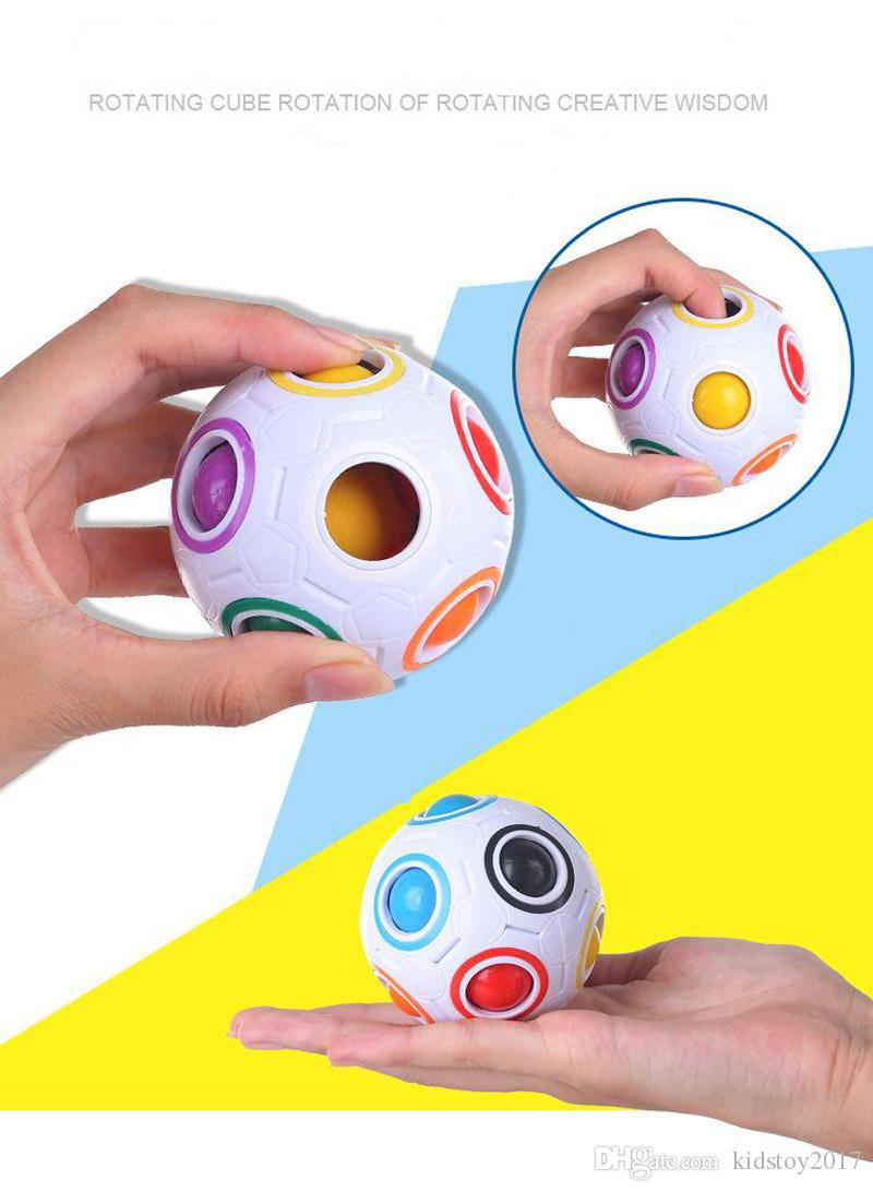 2017 New Magic Balls Rainbow Ball Football 3D Puzzles Funny Creative Educational Learning Toys for Children Adult Gifts