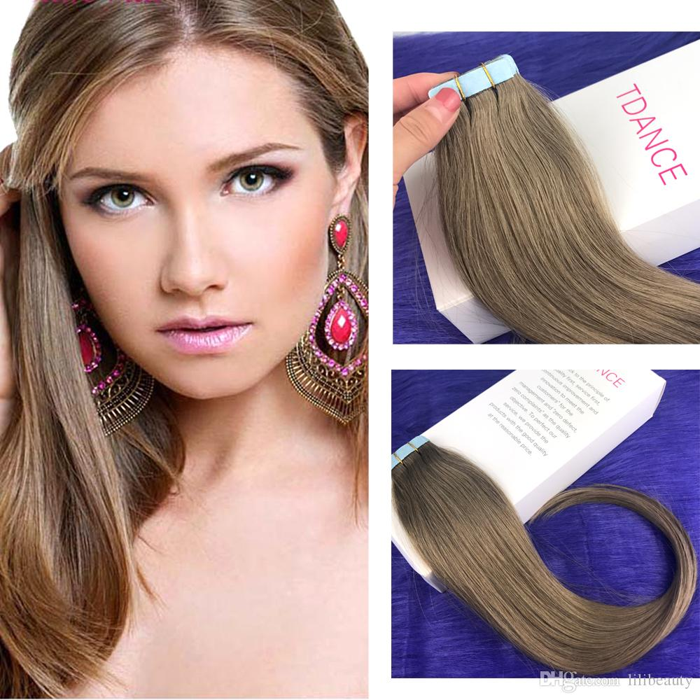 16 Indian Remy Tape Hair Extensions Hot Heads Hair Extension 8a Skin