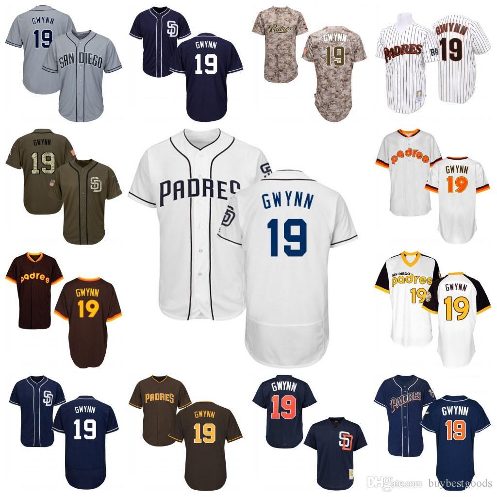22c1dd18c 2017 baseball jerseys mens san diego padres 19 tony gwynn flexbase cool  base 19 Tony Gwynn Authentic ...
