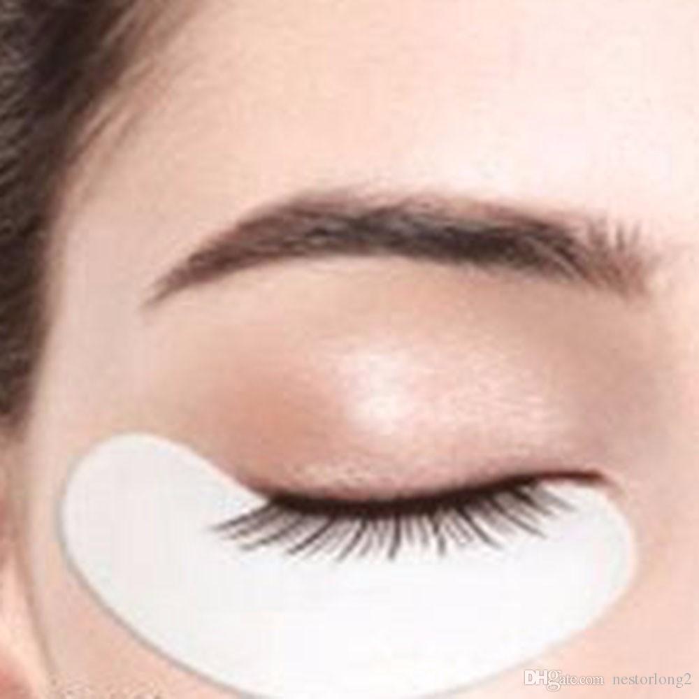 100 çift / paket Kirpik Uzatma Kağıt Yamalar Aşılı Göz Çıkartmalar Altın Kirpik Altında Göz Pedleri Göz Kağıt Yamalar İpuçları Sticker