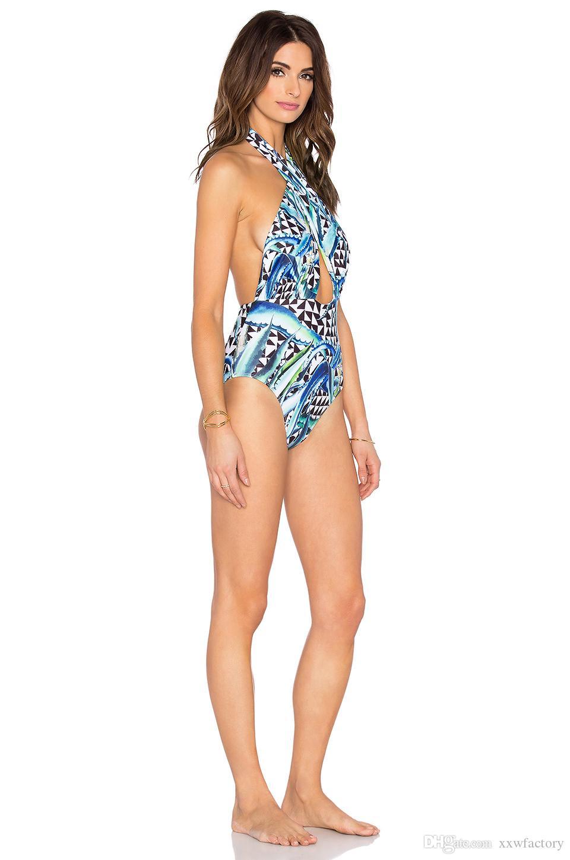 Tek Parça Mayo Artı Boyutu Mayo Kadınlar 2017 Yaz Beachwear Şınav Mayo Retro Yüzmek Aşınma Monokini