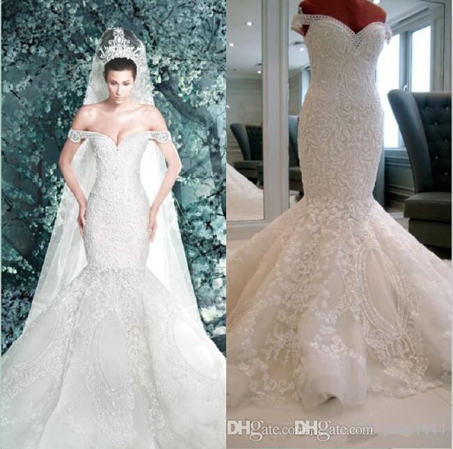 Mermaid Wedding Dresses with Cathedral Train