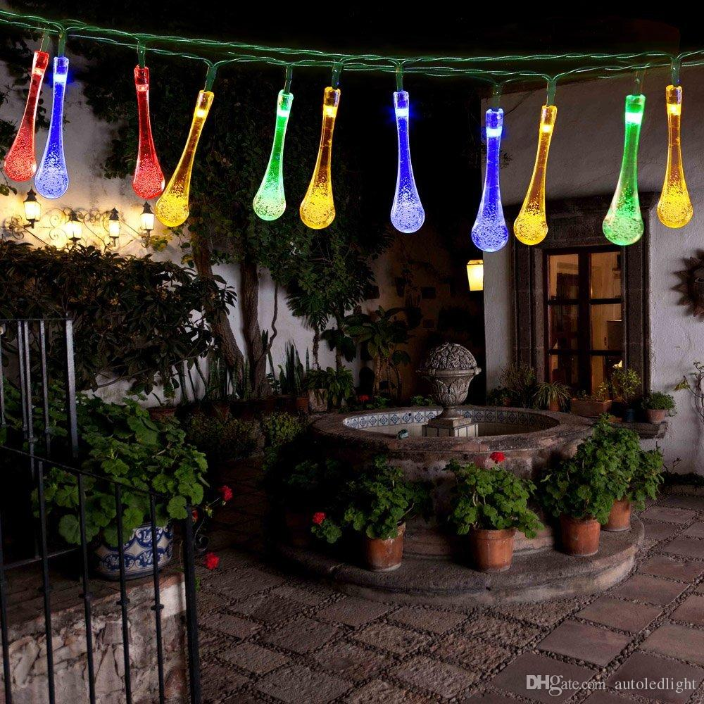 Outdoor 20 LED Water Drop Solar String Fairy Waterproof Lights Christmas Lights Solar Powered String lights