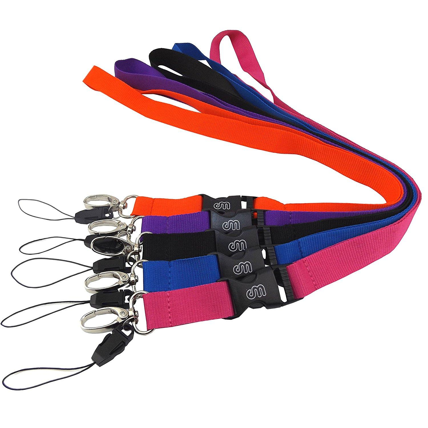 office lanyard polyester with oval clasp detachable buckle for