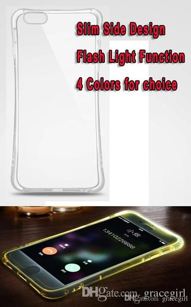 LED Lightning Flash Light Up Soft TPU Case For Samsung Galaxy S8 Plus NOTE4 NOTE5 S6 S7 Edge A7 A8 A9 A510 Bling incoming Cell phone Cover