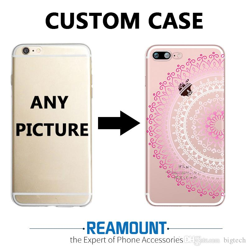 the latest 6d549 be89b 3D Relief Mandalas DIY Custom Case for iphone 7 plus for iphone 6s for  iphone 6s plus Create Your Own LOGO & Picture Soft TPU Cases
