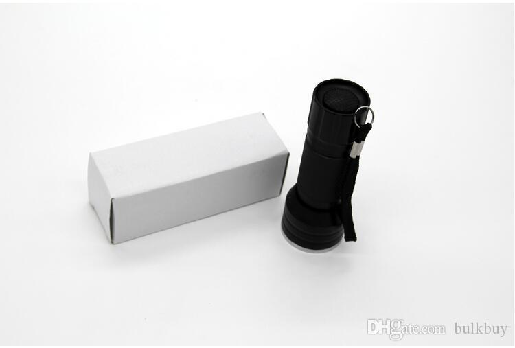 Professional Portable Size Mini UV Flashlight 21 LED High Quality Aluminum Torch Light Lamp Flashlight Black wholesale