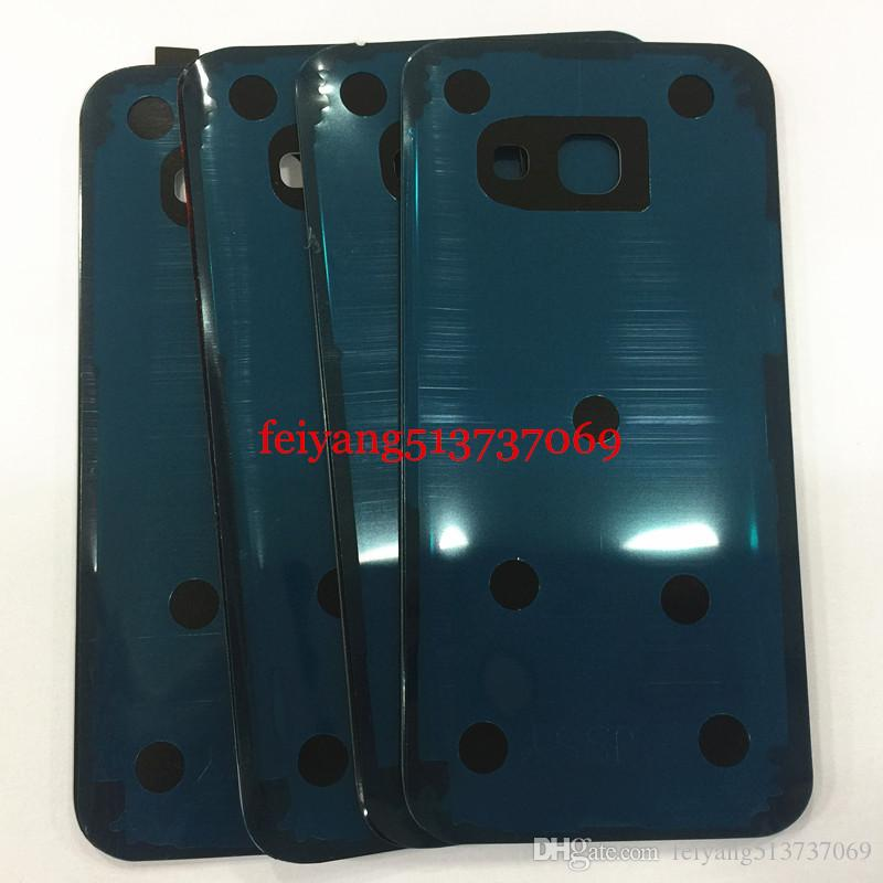A quality For Samsung Galaxy A3 A5 A7 2017 A320 A520 A720 Back Battery Cover Housing Case Glass Rear Door With Adhesive