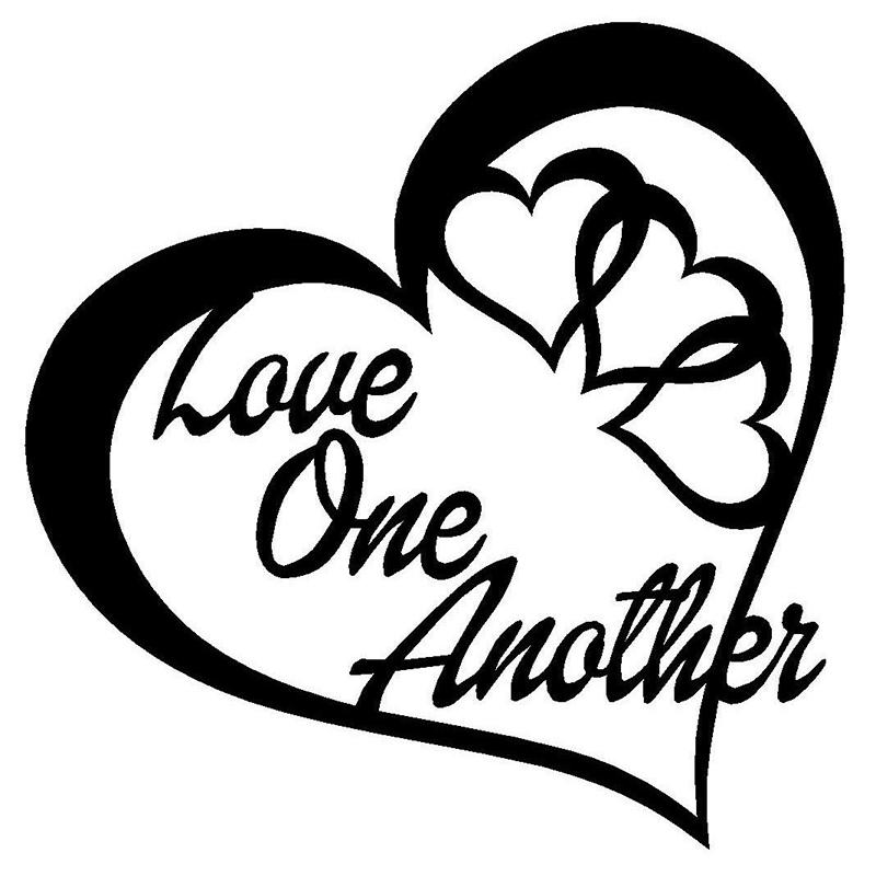 2018 Love One Another Heart Vinyl Decal Sticker Car Window Wall