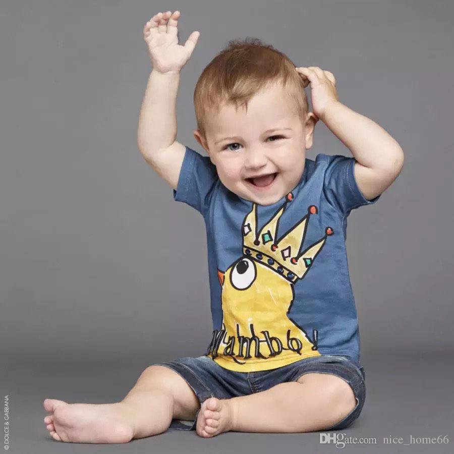 Boys Clothes Girls tshirts Baby Round Collar Short Sleeve Tshirt Summer Cotton Top Tees wholesale Kids Tshirt costume clothing T-shirt