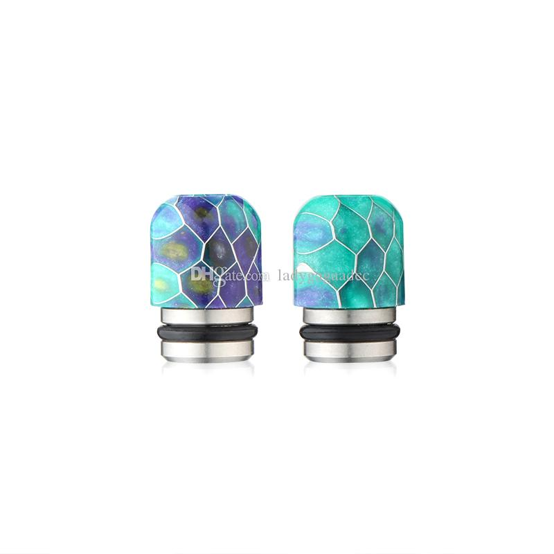 Newest Epoxy Resin Grid Drip Tips Wave Wide Bore Mouthpiece for Kennedy TFV8 510 Vaporizer vapor mods RDA Tank atomizer tip ecig