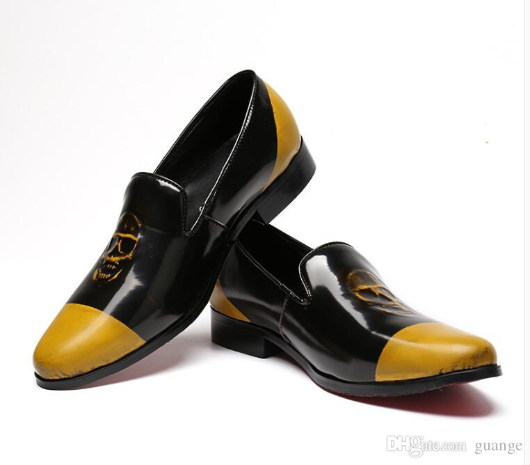 Hot style Black hollow out breathable leisure set foot are pointy shoes Printed Party Wedding Handmade Loafers Flat Shoes Z103