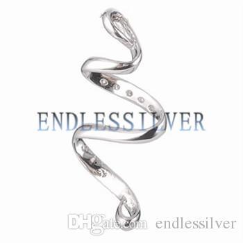 Configurações de pingente em branco Base Curling Design 925 Sterling Silver DIY jóias encontrar montagens para Pearl Party