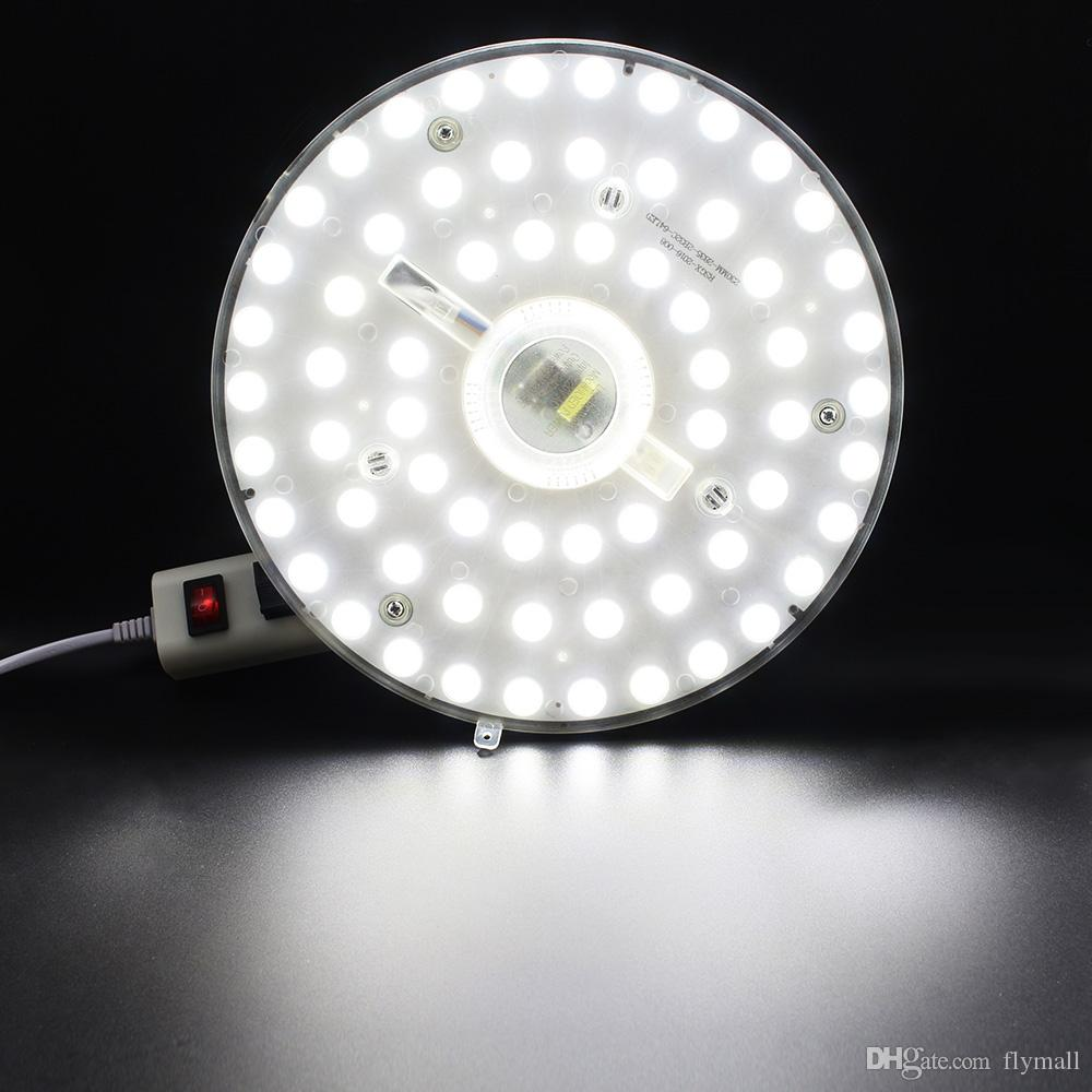 12W 18W 24W 36W SMD 2835 LED 모듈 천장 조명 LED 천장 원형 마그네틱 라이트 램프 AC85-265V 둥근 링 자석이있는 LED 패널 보드