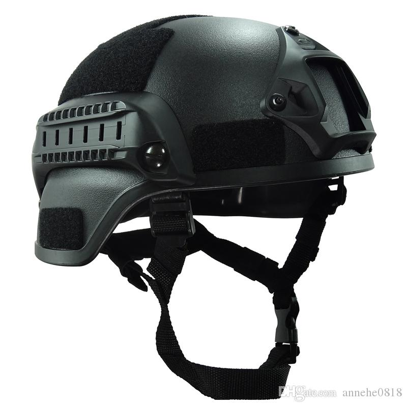 b14eab3549a Compre Envío Gratis Mich 2000 Casco Accesorios Tácticos Army Combat Head  Protector Equipo Airsoft Wargame Paintball Field Gear A  30.41 Del  Annehe0818 ...