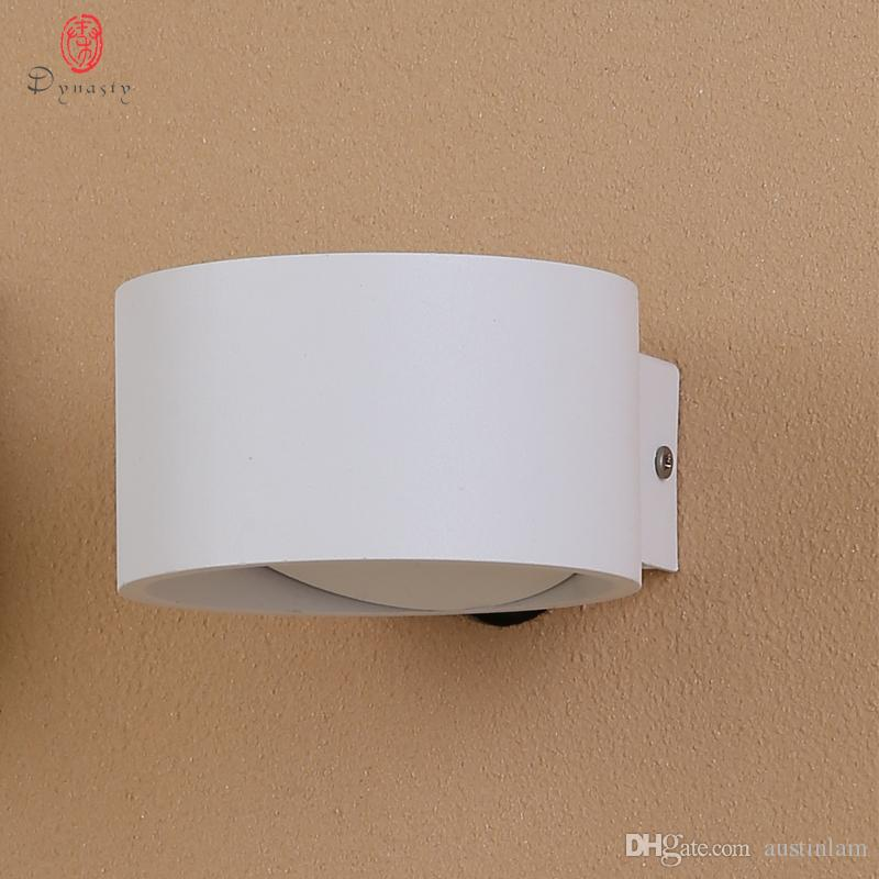 2019 Dynasty Modern LED Wall Lamp Aluminum 5W AC110/220 Fashion Indoor Wall  Lights Foyer Lounge Study Coffee Shop Art Decoration Sconce Lighting From  ...