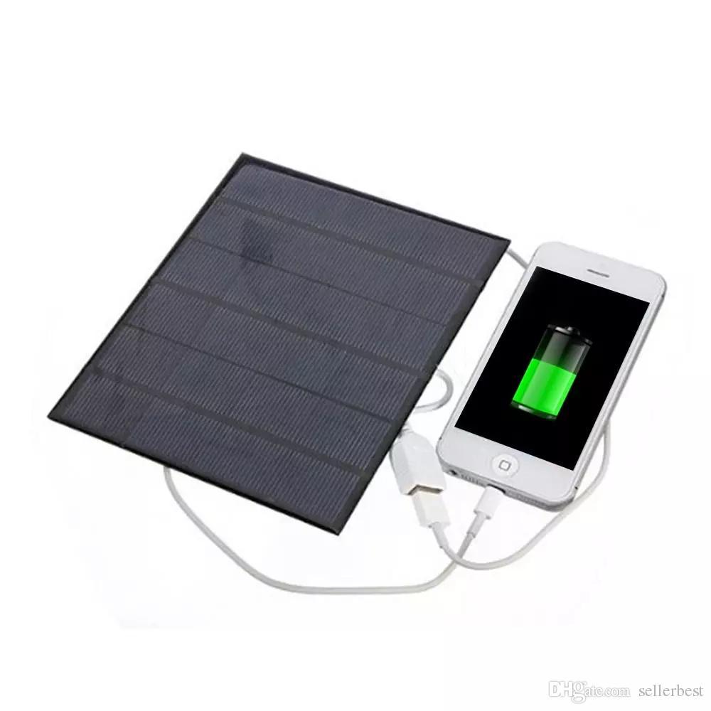 Caricatore solare portatile universale 6V 3.5W Caricatore USB portatile OTG Caricatore solare portatile Pannello solare di alimentazione telefono esterno