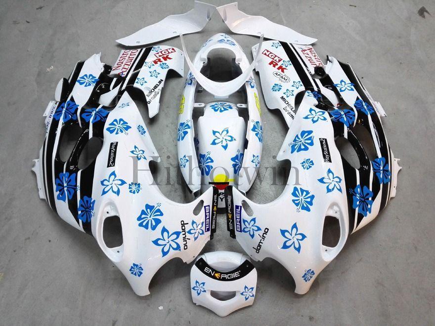 Послепродажный АБС-пластик Обтекатель для Suzuki GSX600F Katana 2003-2006 GSX 600F 03 04 05 06 синий комплект снежинка Кузов