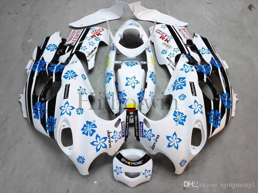 Carenatura in plastica ABS aftermarket Suzuki GSX600F Katana 2003-2006 GSX 600F 03 04 05 fiocchi di neve blu