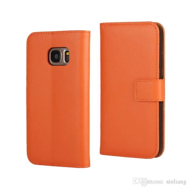 Samsung Galaxy S5 Için hakiki Deri Cüzdan Kılıf S5 S6 S6 Kenar S7 Kenar kredi Kartı Standı ile Flip Kapak Kılıf Galaxy A3 A5 A7 2016