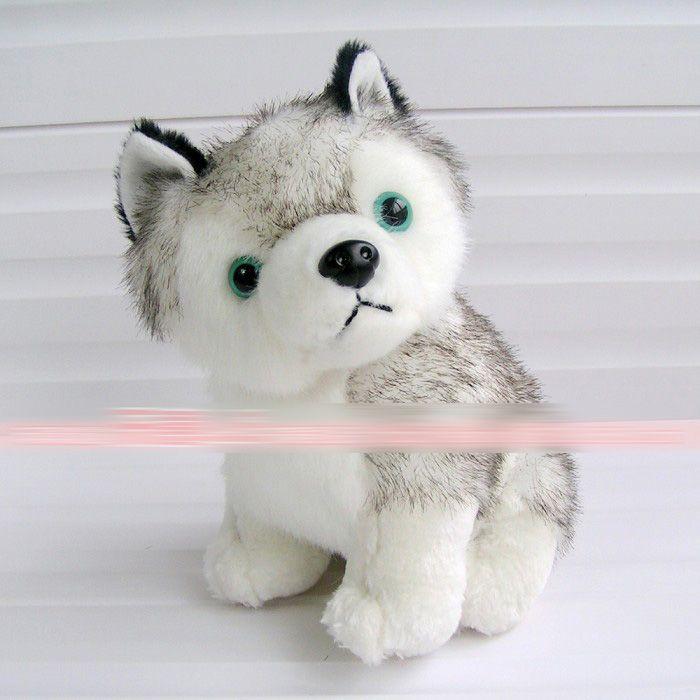 husky dog plush toys stuffed animals toys hobbies 7 inch 18cm Stuffed Plus Animals Favorite EMS Shipping E1930