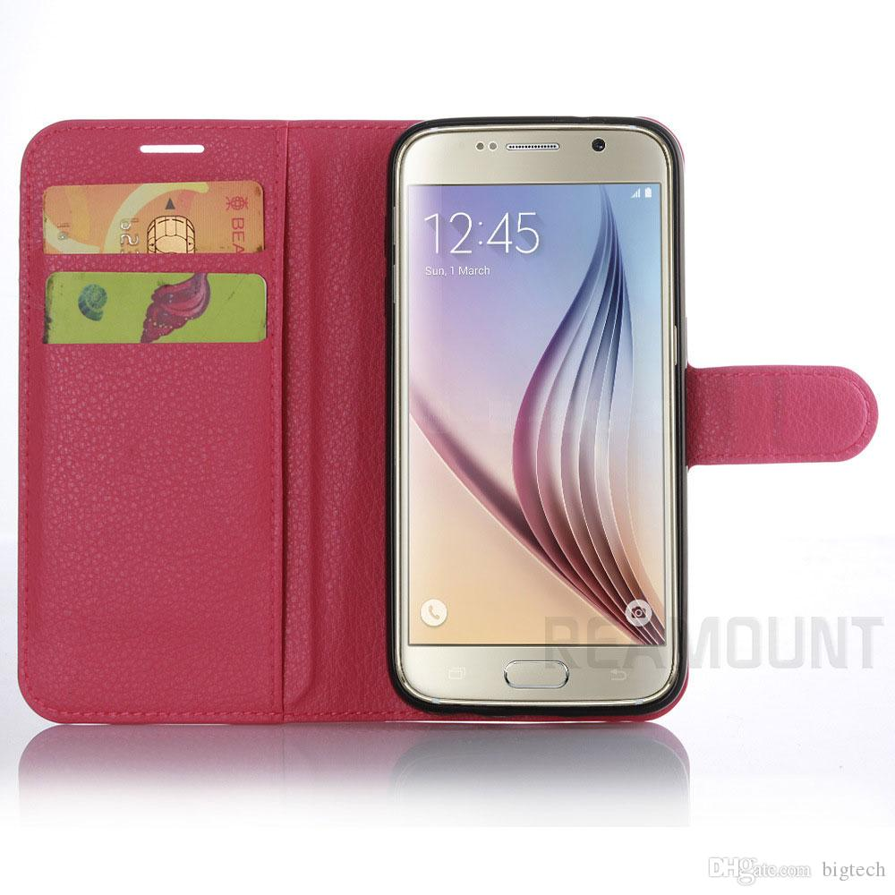 Luxury Leather Case Flip Cover Wallet Bag With Card Holder Kickstand Phone Cases for Samsung s5 mini for Samsung 7 edge Case