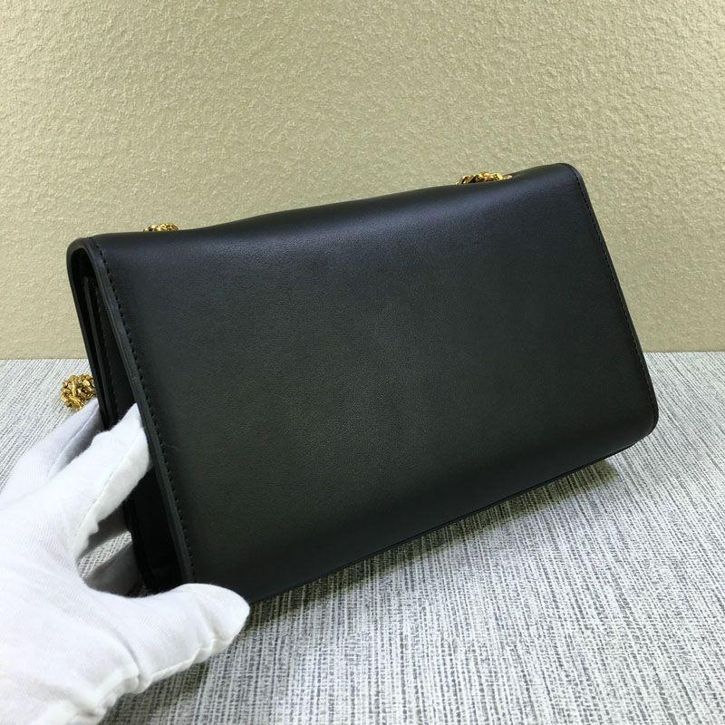 ! fashion cowhide gold chain tassel handbag 354119