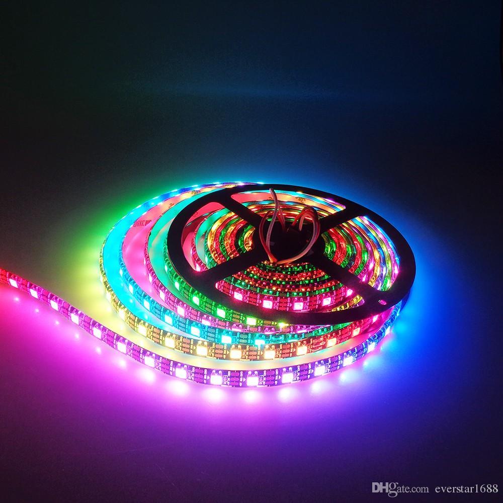 5v Ws2812b Rgb Led Strip Light 30leds M 60leds Black Or White Pcb Dream Color Wiring Diagram 5050 Waterproof Ip67 Ws2812 Ic Digital Marine Lights