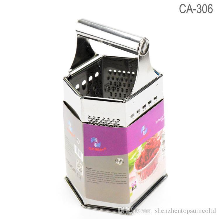 6 Faces Ralador de Aço Inoxidável Multifuncional Ralador Noz-moscada Ralador de Legumes Para Ferramenta de Utensílios de Cozinha Mão