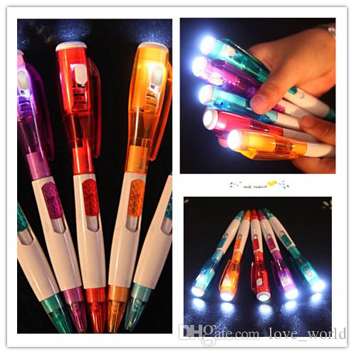 Korea cute creative stationery novel with led flashlight multi-function ball-point pen 5 color free