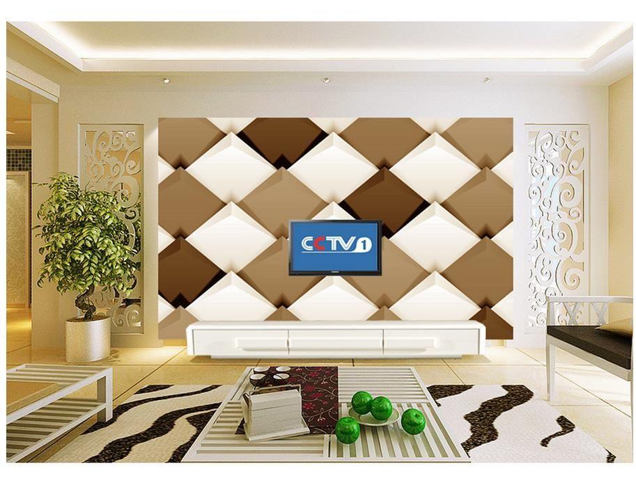 3D Wallpaper für Raum klassische Tapete für Wände 3D stereoskopische geometrische moderne minimalistische TV Kulisse angepasste Tapete für Wände