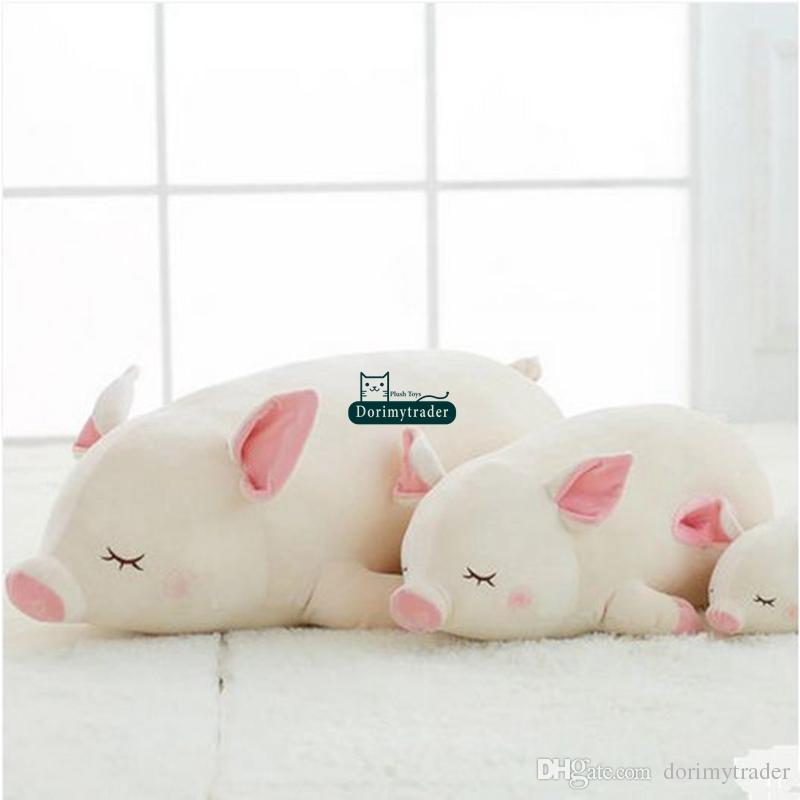 Dorimytrader Lovely Pop 100cm Giant Soft Lying Animal Pig Plush Pillow 39'' Stuffed Cartoon Pigs Doll Toy Kids Gift DY61568