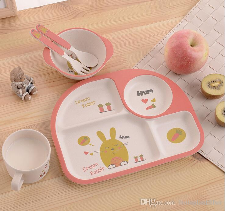 2018 Set Funy Rabbit Print Baby Bamboo Square Dinner Sets Eco Friendly Kids Cartoon Dishes SetChildren Plates SetBamboo Kids Picnic Set From ... & 2018 Set Funy Rabbit Print Baby Bamboo Square Dinner Sets Eco ...