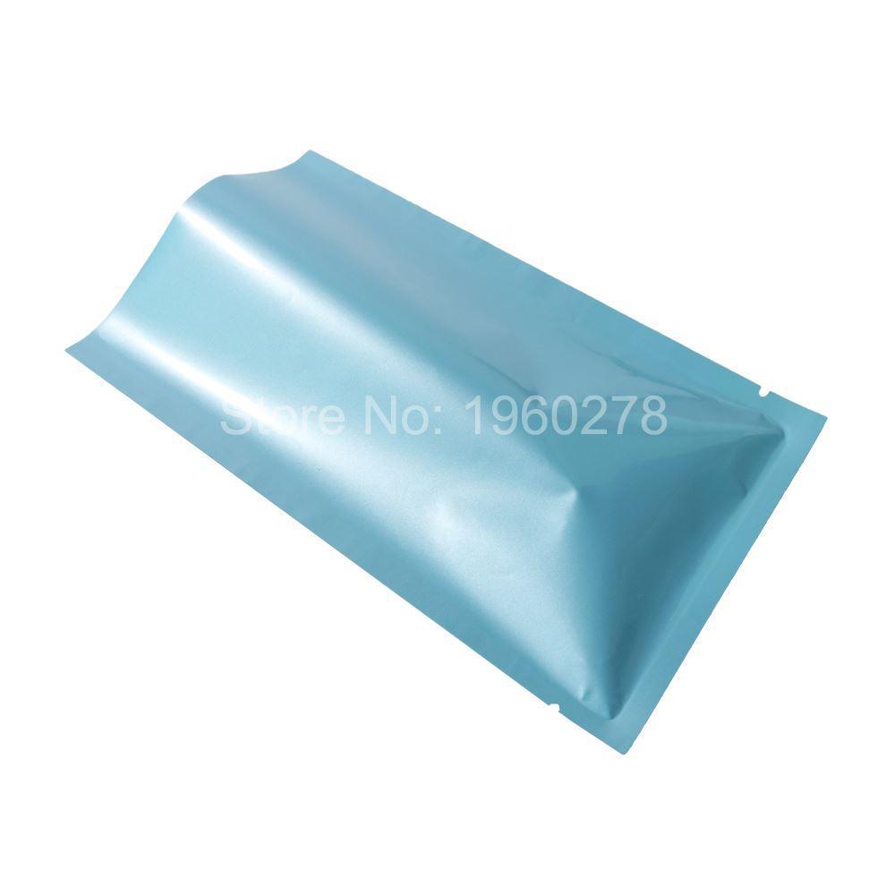 6x9cm2.25x3.5in Glossy Blue Heat Sealing Aluminum Foil Flat Pouch ...