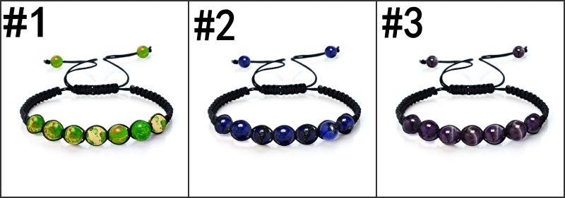 8mm Charm Yoga Reiki Prayer Natural Stone Bracelet Good Luck Men and Women Oil Diffuser Bracelet Christmas Gift B572S