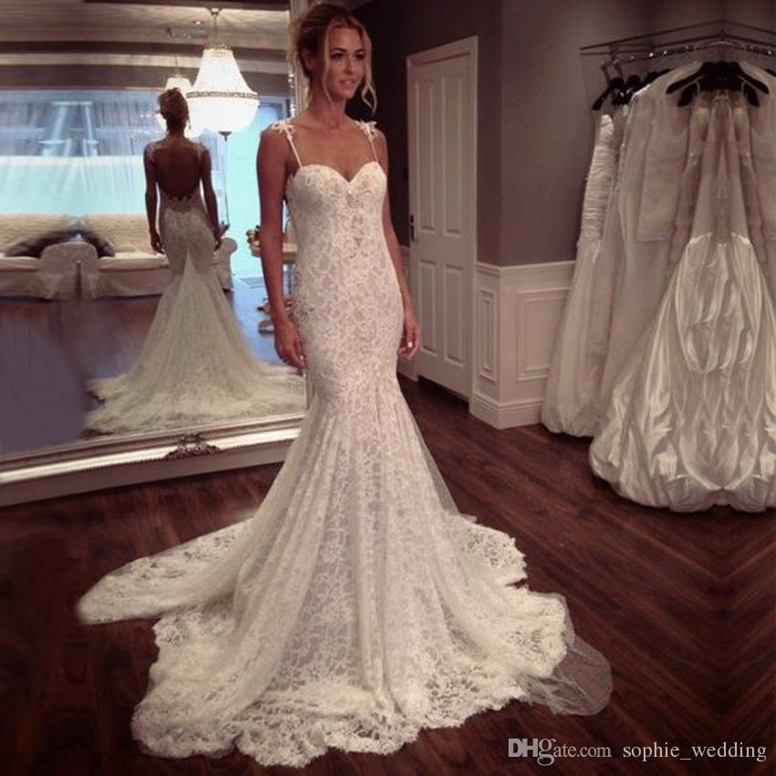 High Quality Off White French Lace Mermaid Wedding Dress 2017 ...