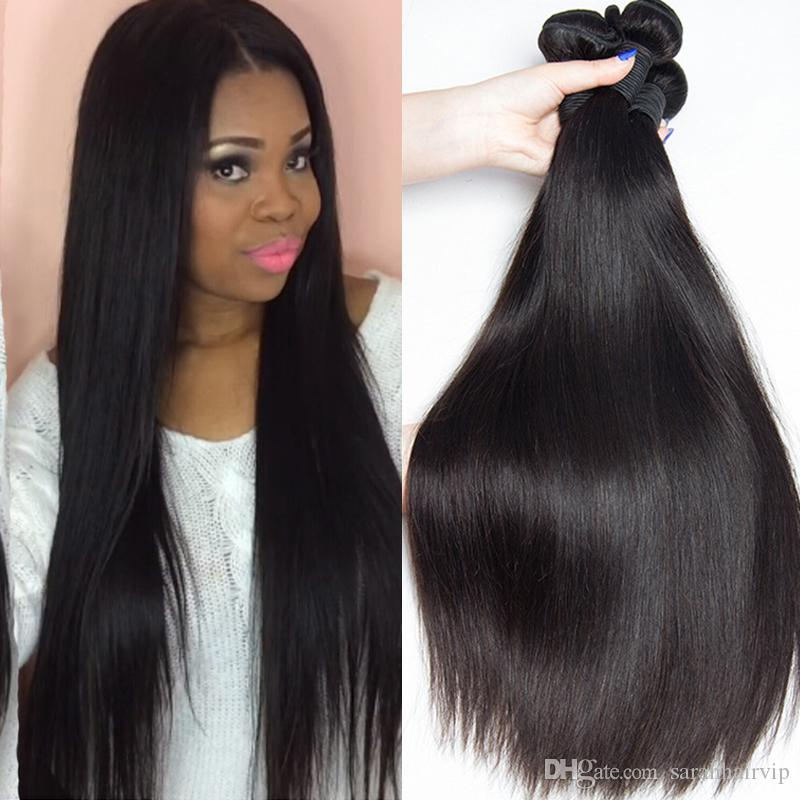 Brazilian Peruvian Body Wave Indian Malaysian Virgin Human Hair Weave Straight 3/4 Bundles Lot Double Weft Cheap Brazillian Hair Extensions