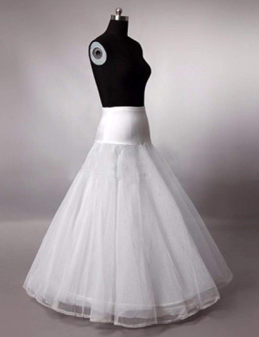 Gelinlik için 2017 Yeni Ücretsiz Kargo Yüksek Kalite Bir Hat 1-çember 2 katmanlı Tül Düğün Gelin Petticoat crinolines
