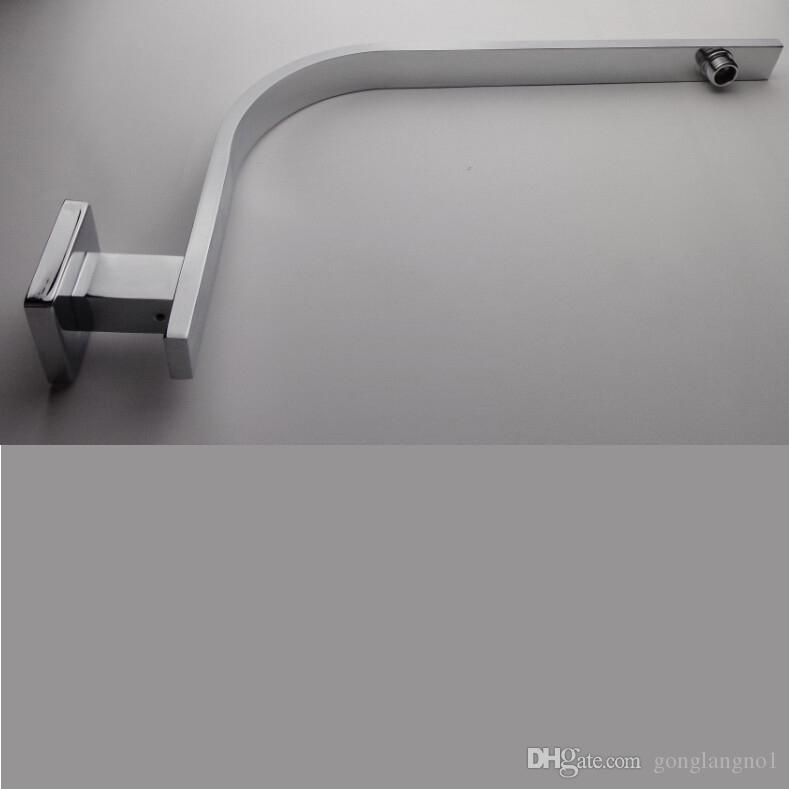 Wholesale And Retail Promotion Modern Chrome Brass Wall Mounted Square Bathroom Shower Arm Curved Shower Arm